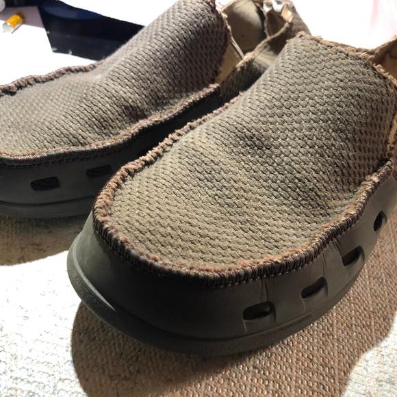 Crocs Mens Canvas Fabric Slipon Comfort